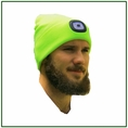 Forester Hi-Vis Green Beanie Head Lamp
