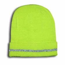 Forester Hi-Vis Green Stocking Hat With Reflective Stripe - #00794r
