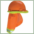 Forester Hi-Vis Hard Hat Sunshade Neck Protection - Orange