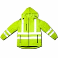 Forester Hi-Vis Soft Shell Water Repellent Jacket - Safety Green