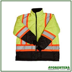 Forester Hi-Vis Insulated Class 3 Puff Jacket - Safety Green