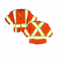 Forester Hi-Vis Orange Class 3 Cross Back Safety Vest