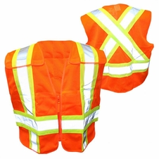 Forester Hi-Vis Orange Cross Back Safety Vest