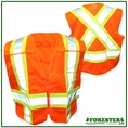 Forester Hi-Vis Orange Cross Back Safety Vest - Vest45
