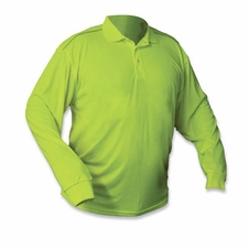 Forester Hi-Vis Premium Long Sleeve Polo - Safety Green