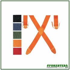 Forester Orange Button Suspenders - #Suspnbtn-O