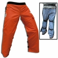 "Forester Orange Long 40"" Apron Style Chainsaw Chaps"