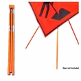 """Forester Orange Tripod Sign Stand - 36"""" & 48"""" Signs"""