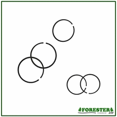 Forester Piston Replacement Rings For Husqvarna. Parts #For-6333 - #For-6345