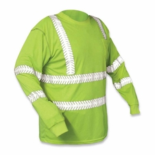 Forester Premium Hi-Vis Class 3 Long Sleeve Shirt - Safety Green