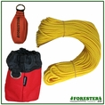 "Forester Professional Polyethylene Arborist Throw Line Kit - 1/8"" x 150' w/ 11oz Throw Bag & Storage Bag"