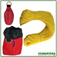 "Forester Professional Polyethylene Arborist Throw Line Kit - 1/8"" x 150' w/ 15oz Throw Bag & Storage Bag"
