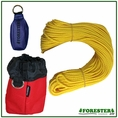 "Forester Professional Polyethylene Arborist Throw Line Kit - 1/8"" x 150' w/ 9oz Throw Bag & Storage Bag"