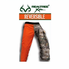 Forester RealTree&reg Camo/Orange Reversible Apron Style Chainsaw Chaps