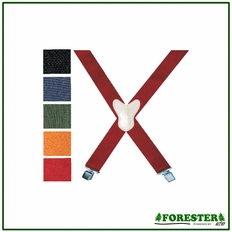 Forester Red Clip Suspenders - #Suspn-R