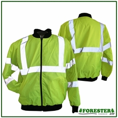 Forester Hi-Vis Reflective Insulated Jacket-#005057