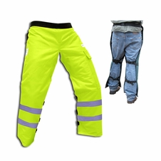 Forester Safety Green Apron Style Chainsaw Chaps