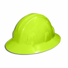 Forester Safety Green Full Brim Safety Helmet - #8155