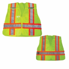 Forester Safety Green Tear-away Public Safety Vest