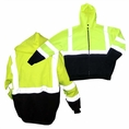 Forester Single Weight Class 3 Hi-Vis Zippered Hooded Sweatshirt - 028020