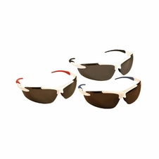 Forester White Frame/Gray Tinted Mirrored Lens Safety Glasses - Mixed Frames