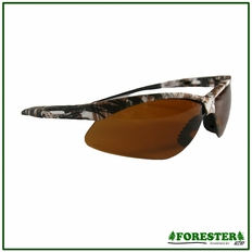 Forester White/Snow Camo Safety Glasses w/ Lanyard - Dozen