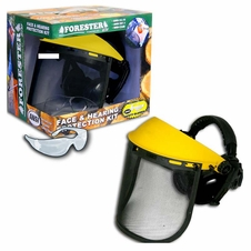 Forester Yellow/Black Face & Hearing Protection Kit