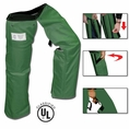Forester Zipper Style Chainsaw Chaps - Forest Green