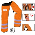 Forester Zipper Style Chainsaw Chaps - Orange Class E