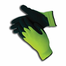 Hi-Vis Green Insulated Rubber Palm Winter Work Gloves - 685001