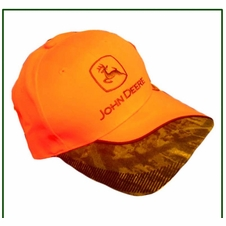 John Deere Orange Camo Hat