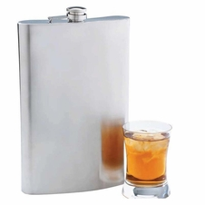 Maxam Stainless Steel Jumbo Flask 64oz(Half Gallon)