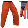 "Forester 40"" Long Wrap Around Chainsaw Chaps - Orange"