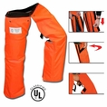 Forester Zipper Style Chainsaw Chaps - Orange