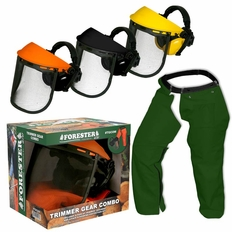 Forester Trimmer Trouser Chaps/Face Shield Combo - Forest Green