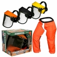 Forester Trimmer Trouser Chaps/Face Shield Combo - Orange