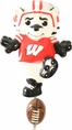 "Wisconsin Badgers 7"" Mascot Wall Hook"