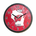 Wisconsin Badgers Badger Country Wall Clock #Wi-043
