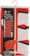 Wisconsin Badgers Fabric Shower Curtain