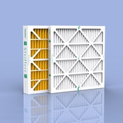 """4"""" Glasfloss Yellow Pleated Air Conditioning Filters - Merv 11"""