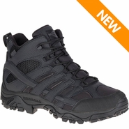 Merrell J15853 Men's Moab 2 Mid Waterproof Black Tactical Boot