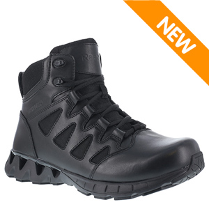Reebok RB8630 Men's ZigKick 6in Waterproof Side Zipper Black Tactical Boot