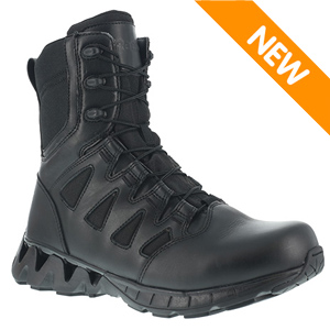 Reebok RB8845 Men's ZigKick 8in Side Zip Black Tactical Boot