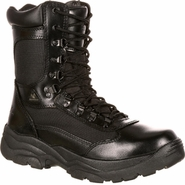 Rocky 2149 Men's Fort Hood Zipper Waterproof Black Duty Boot