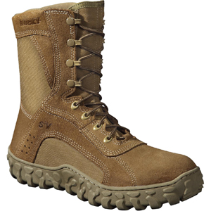 Rocky S2V Men's Steel Toe Coyote Brown Military Boot (6104)