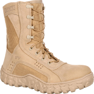 Rocky S2V 105 Men's Vented Desert Tan Military Duty Boot