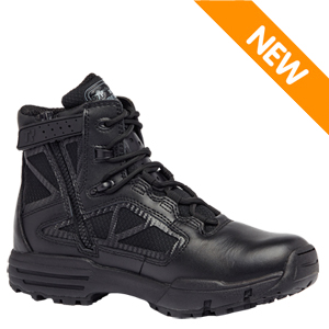 Tactical Research TR996Z WP Chrome Waterproof Side Zip 6in Black Tactical Boot