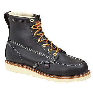 Thorogood 814-6201 6in Black Moc Toe Non-Safety
