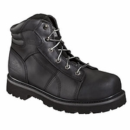 Thorogood 804-6450 6in Black Lace-To-Toe Semi-Oblique - Safety Toe