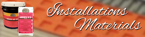 Installation and Setting Materials
